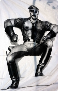 Finlayson Tom of Finland Readyman Satin-Bettdeckenbezug, 150 x 210 cm