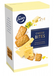 Fazer Emmental Cheese Bits Käse-Cracker, 160 g