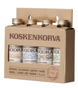 Koskenkorva Vodka Mix, 4x 4 cl Mini-Flaschen, 40%