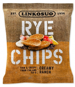 Linkosuo Roggen-Chips Creamy Ranch, dünne Roggenchips, 150 g
