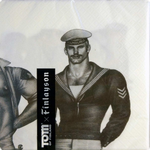 Finlayson Tom of Finland Fellows Paperilautasliinat Papier-Servietten