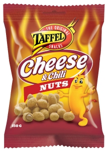 Taffel Cheese Chili Nuts Käse Chili Erdnüsse, 150 g