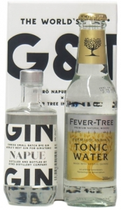 Kyrö Napue Rye Gin + Fever Tree Indian Tonic Water - Set, 2x 100 ml