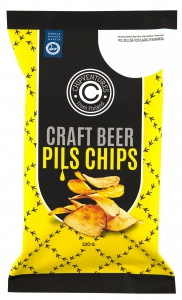 Real Snacks Craft Beer Pils Chips, 120 g