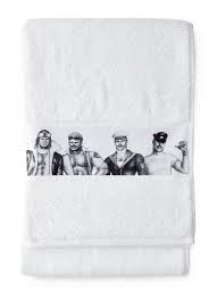Finlayson Tom of Finland Fellows Handtuch 50 x 80 cm, weiß